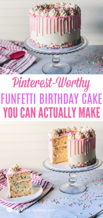 Pinterest Worthy Funfetti Birthday Cake You Can Actually Make | Making this foolproof funfetti birthday cake is like celebrating your birthday anytime you want! This foolproof funfetti birthday cake is a fun and festive cake that instantly transports you back to your childhood. Learn how to make this Foolproof Funfetti Birthday Cake that'll make you feel like it's your birthday every day! #xokatierosario #funfettibirthdaycake #birthdaycakerecipe #homemadefunfetticake