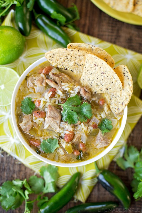 Spicy Chile Verde Stew | This is for those who are looking for healthy easy recipes with minimal cleanup. The solution is easy, making one pot healthy meals. Choose from one pot recipes like Cashew Chicken Stir Fry, Spicy Thai Noodles, or Mexican Rice Casserole! These one pot healthy dinners are sure to make cooking on a busy weeknight so much easier. #xokatierosario #onepothealthymeals #easyonepanrecipes #easyhealthymeals