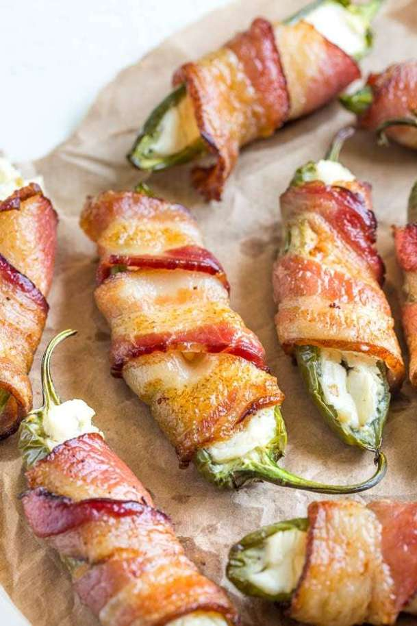 Cheesy Jalapeno Poppers | Cinco de Mayo is fast approaching, and these easy appetizers are totally perfect for the Spring Holiday! You can choose from Mexican street corn salad, scallop ceviche, white queso dip, and even churros served with a warm chocolate espresso dipping sauce. No matter what you decide to make, you'll love any of these easy Cinco de Mayo appetizers! #xokatierosario #cincodemayo #easyappetizers #cincodemayorecipes