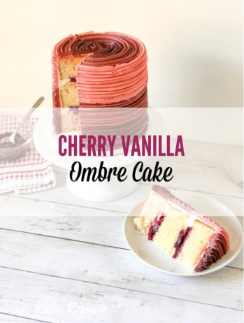 Learn how to make a simple decorating technique that elevates popular flavors and presents them in a new creative way! This cherry vanilla cake is bold and flavorful and will be a crowd-pleaser every time! You'll learn a few new cake decorating tips and tricks that'll elevate your baking skills. I know these skills will help you become a more confident baker. #xokatierosario #easycherrycake #vanillacherrycake #ombrecakeideas #cakedecoratingtipsandtricks