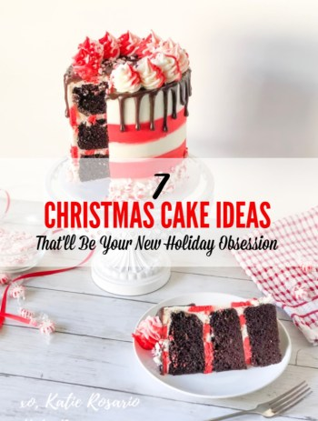 Are you looking for Christmas cake ideas to get you inspired this holiday season? These Christmas cakes are fun and festive, perfect for holiday parties and family gatherings. Whether you like chocolate and peppermint, spiked rum eggnog, or a delicious Nutella hot chocolate cake, there's something that everyone will love. These Christmas cakes are almost too beautiful to eat, but they are beyond delicious! #xokatierosario #christmascakeideas #holidaycakes #wintercakeideas