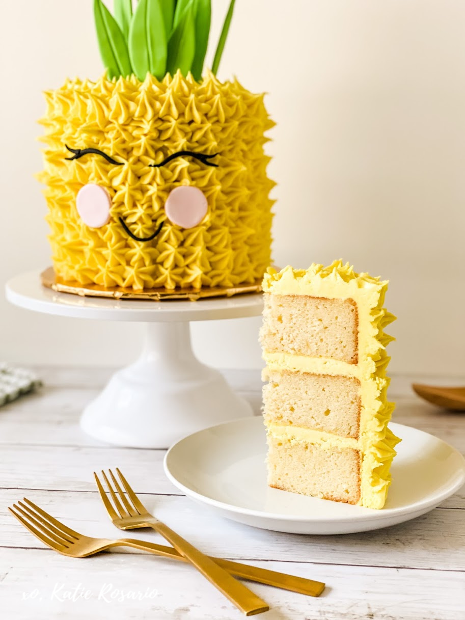 Tropical Pineapple Cake That S Super Easy Fun To Make Katie Rosario