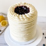 Looking for a simple summertime cake with fresh and bold flavors? Learn how to make this delicious lemon blueberry cake. This cake is made with fluffy layers of lemon buttermilk cake filled with blueberry jam and zesty lemon buttercream. I'll show you how to decorate this cake with a star tip to create a cool texture on the sides of the cake. Happy Baking! #xokatierosario #lemonbuttermilkcake #lemonblueberrycake #summercakeideas #cakedecoratingtips