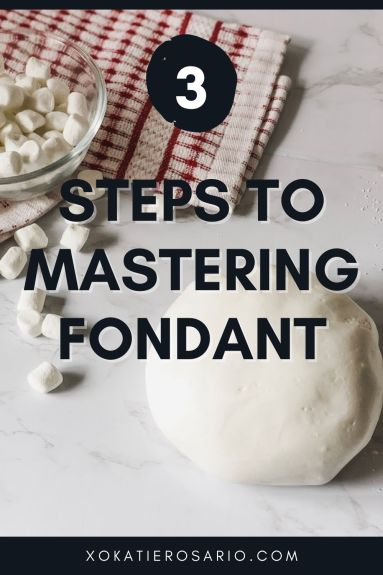 Homemade Marshmallow Fondant Tips and Tricks | I'll teach you the steps to understand and master fondant. You'll learn what fondant is and why you want to use it on cakes, how to knead, roll and store fondant. Finally, you'll get a list of must to have tools to make working with fondant easy. #xokatierosario #katierosariocakes #homemadefondant #fondantcakes #fondanttips