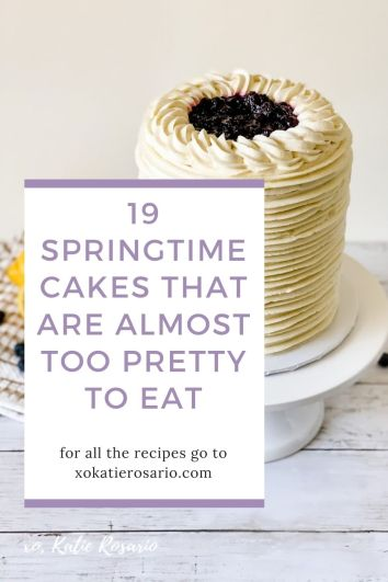 Learn how to make these 19 Spring Inspired Cakes. Choose from cakes like Lemon Blueberry Thyme Cake, Berries & Cream Champagne Cake, Flower Fault Line Cake, and a super fun Party Llama Cake. Whether you're celebrating a birthday, holiday, or just a friendly gathering, these springtime cakes are perfect for you.
