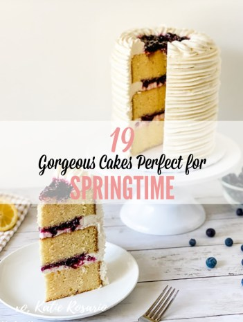 Learn how to make these 19 Spring Inspired Cakes. Choose from cakes like Lemon Blueberry Thyme Cake, Berries & Cream Champagne Cake, Flower Fault Line Cake, and a super fun Party Llama Cake. Whether you're celebrating a birthday, holiday, or just a friendly gathering, these springtime cakes are perfect for you. #xokatierosario #katierosariocakes #cakedecoratingtips #springcakes #springtime