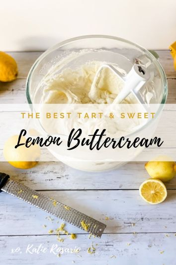 This Lemon Buttercream Frosting is made with butter, powdered sugar, and a zesty lemon gel. Lemon buttercream is freaking delicious when made right. Created by Katie Rosario, XOKatieRosario creates beautiful cake decorating techniques that are easy for beginners and strategically designed for any home baker. #xokatierosario.com #cakedecoratingcourse #cakedecoratingforbeginners #xokatierosario #katierosariocakes #lemonbuttercream #lemonfrosting #homemadefrostings