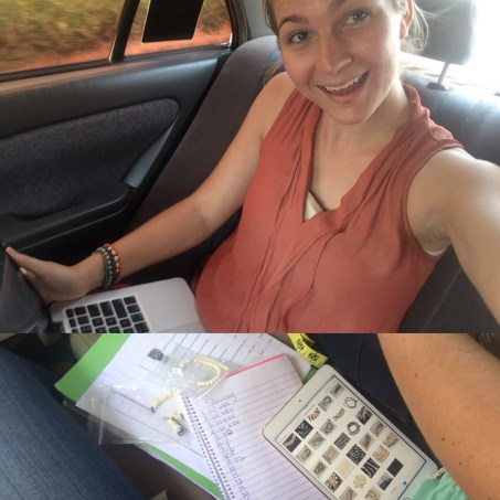 Mobile backseat office - my jam these days