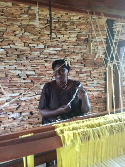 Praise - one of Akola's weavers!