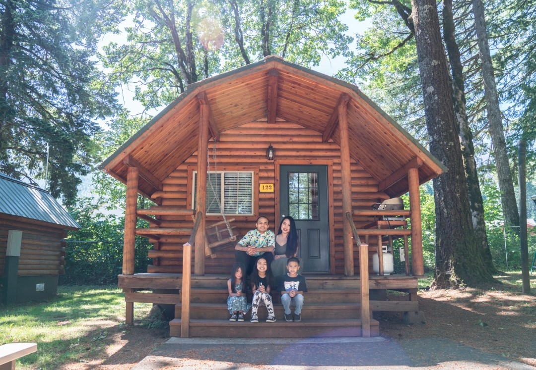 The Cabin Life At The KOA Holiday in Cascade Locks, OR