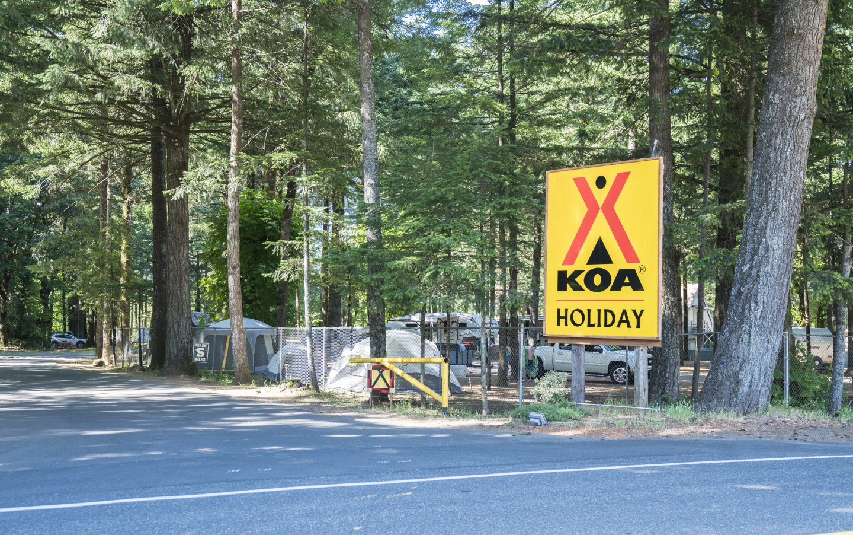 Cascade Locks Oregon KOA Holiday