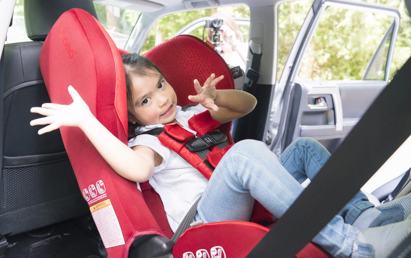diono rainier car seat red