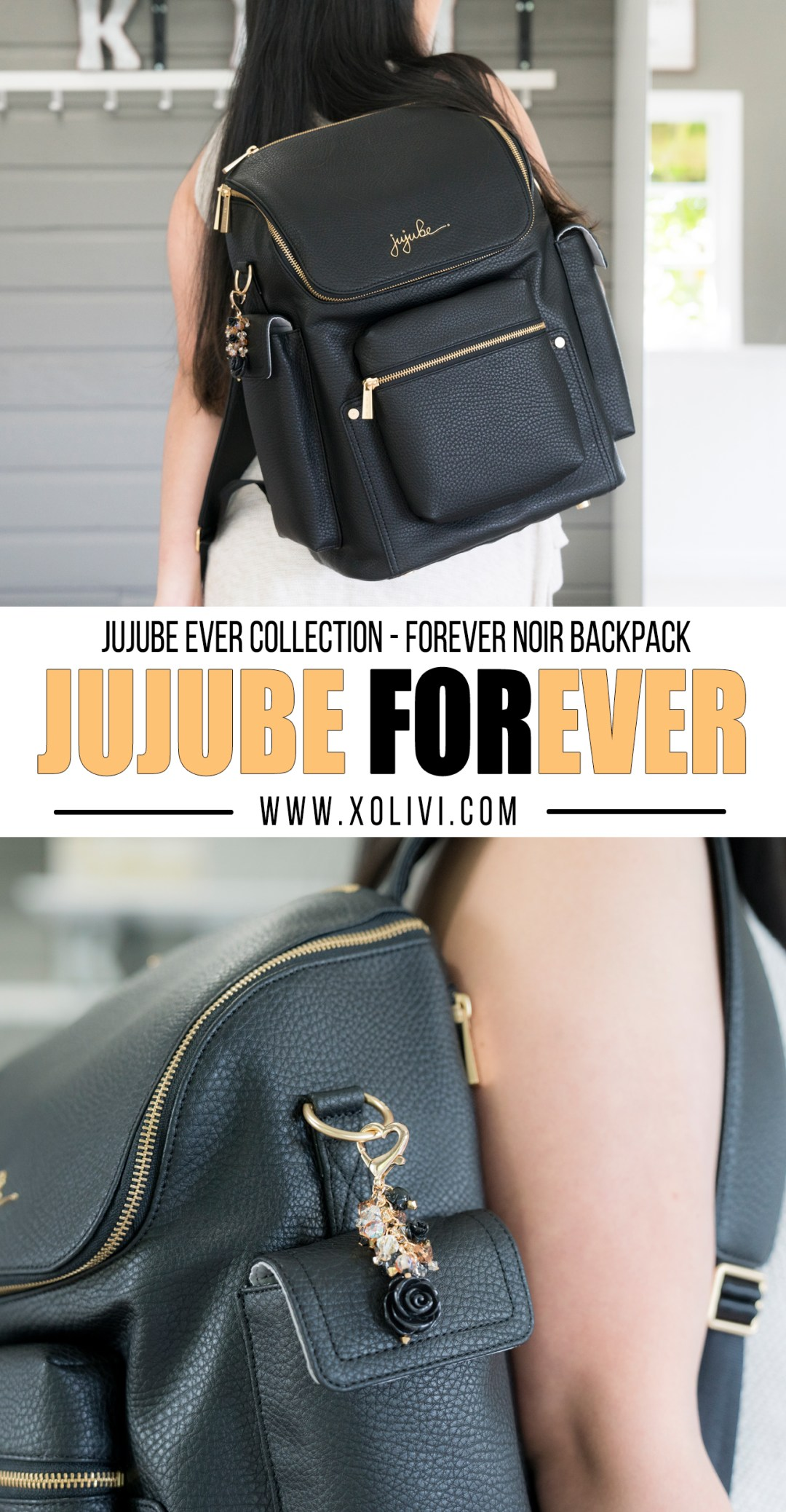 JUJUBE ever collection forever backpack in noir fobs by andrea