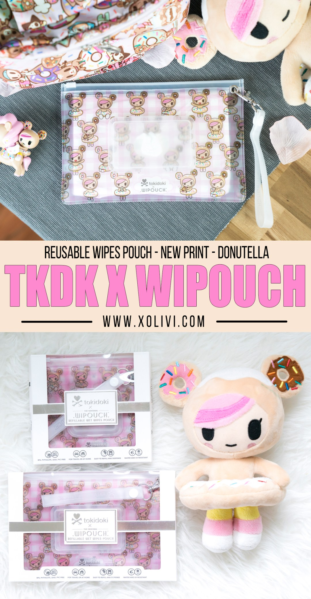 tokidoki wipouch donutella reusable wipes pouch xolivi