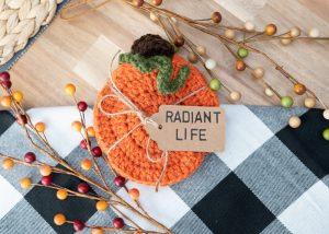 Crochet Pumpkin Coasters