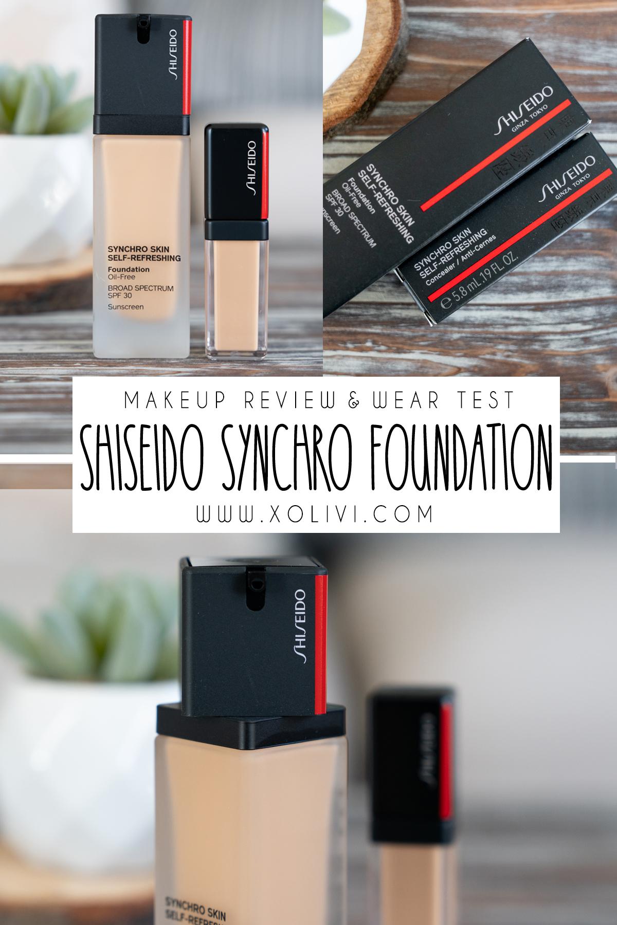 shiseido synchro skin self-refreshing foundation and concealer