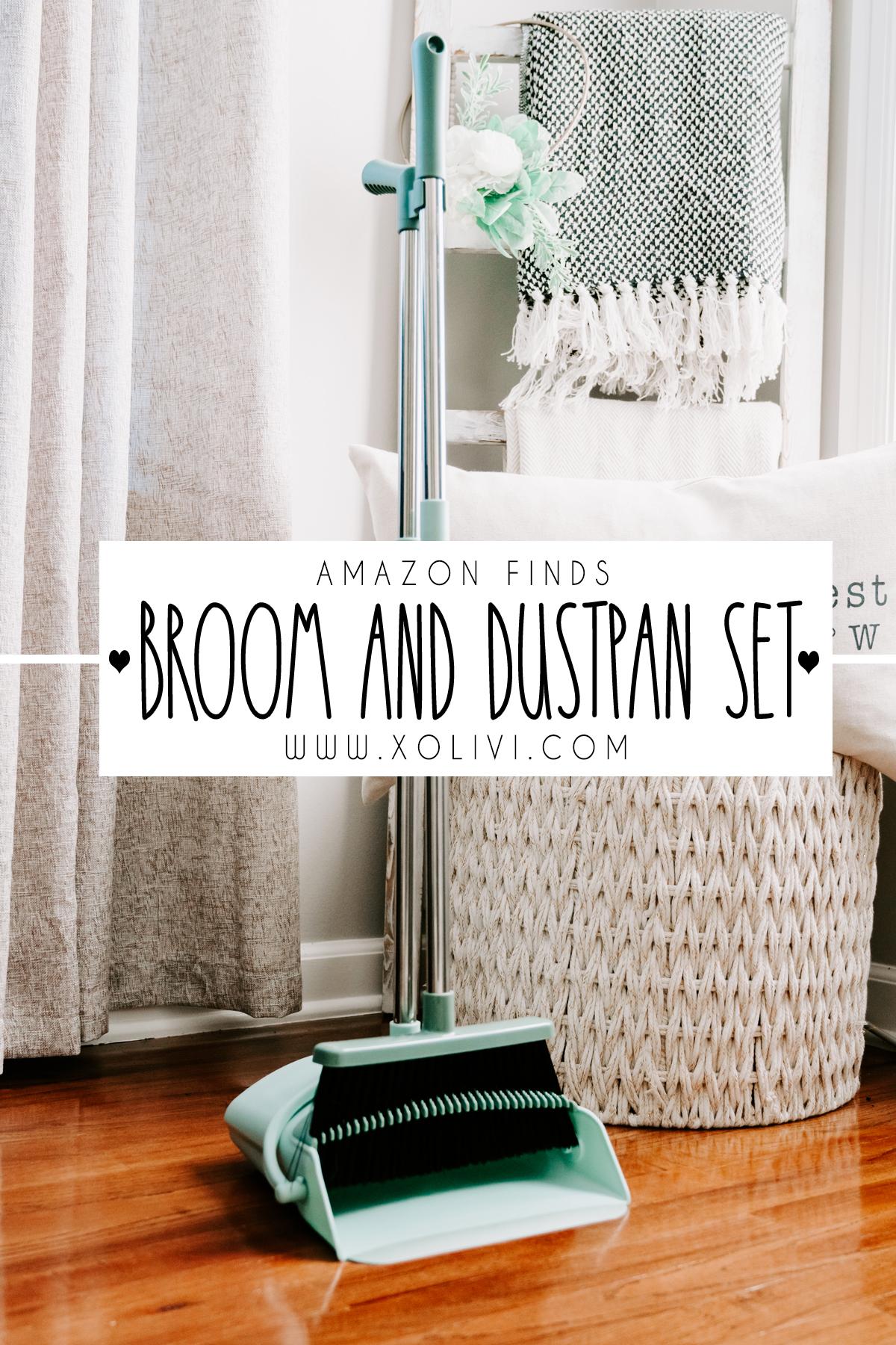 adjustable broom and dustpan set