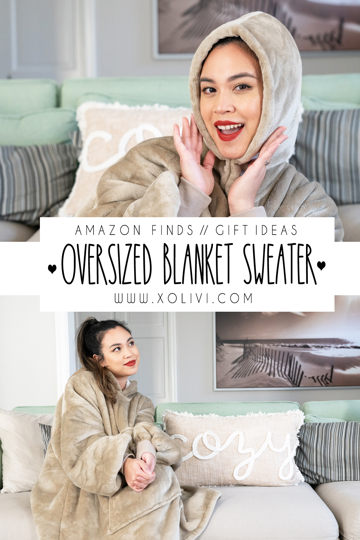 OVERSIZED BLANKET SWEATER