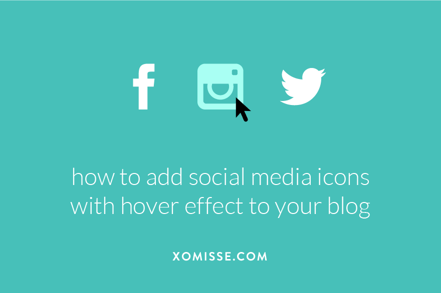 how to add social media icons with hover effect to your blog