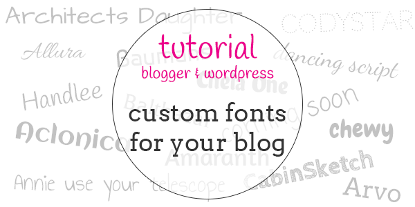adding custom fonts to blogger and wordpress