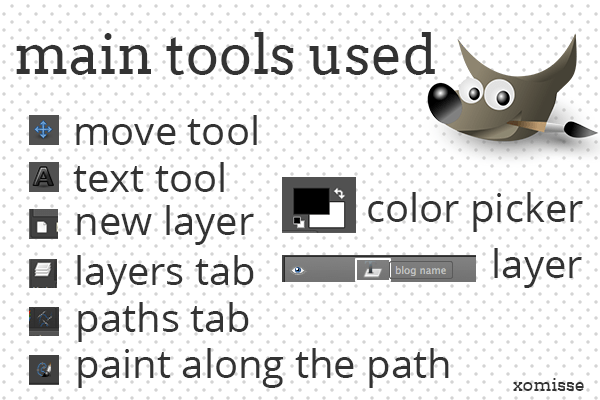 main tools used in GIMP