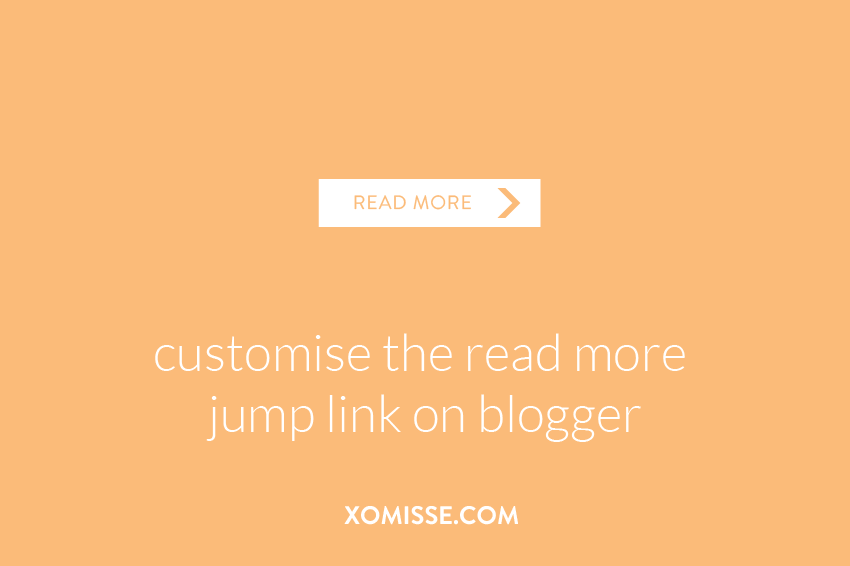 customise the read more jump link on blogger