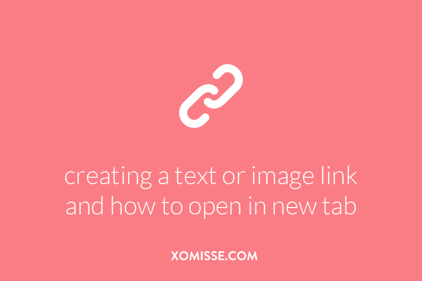 Creating a text link that opens in a new tab or window, making an image a link