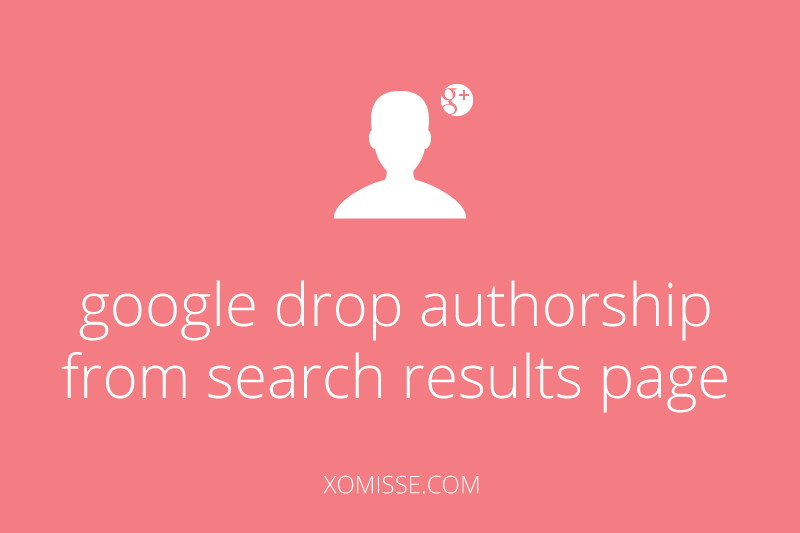 google drop authorship from search results page