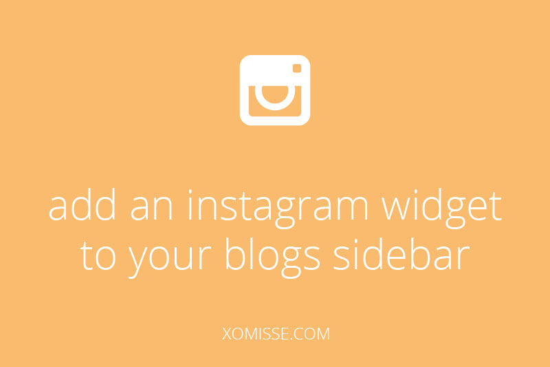 add an instagram widget to your blogs sidebar