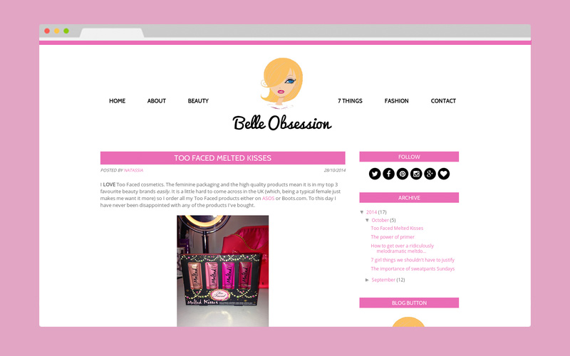 Blogger Redesign - BelleObsession