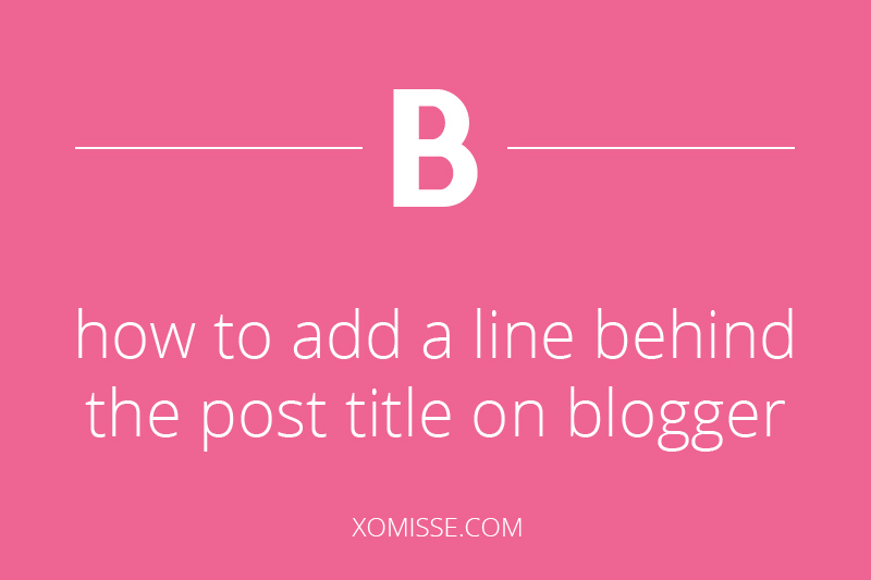 How to add a line behind post title