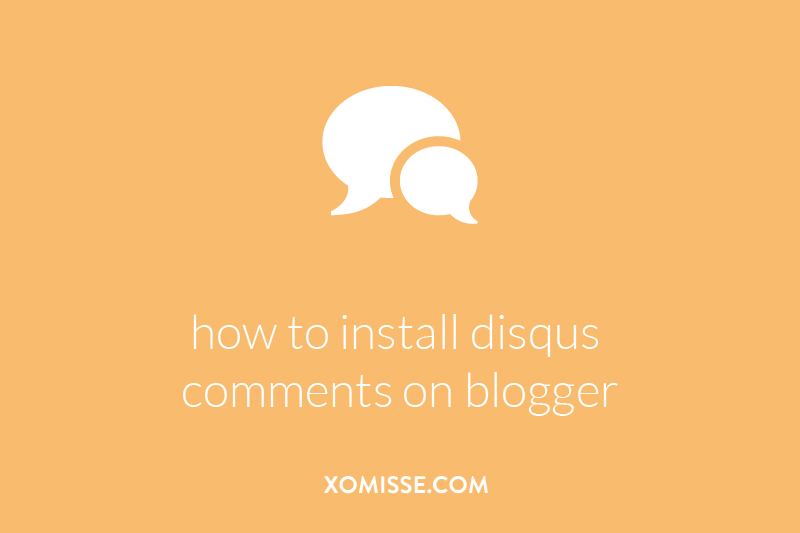 how to install disqus comments on blogger