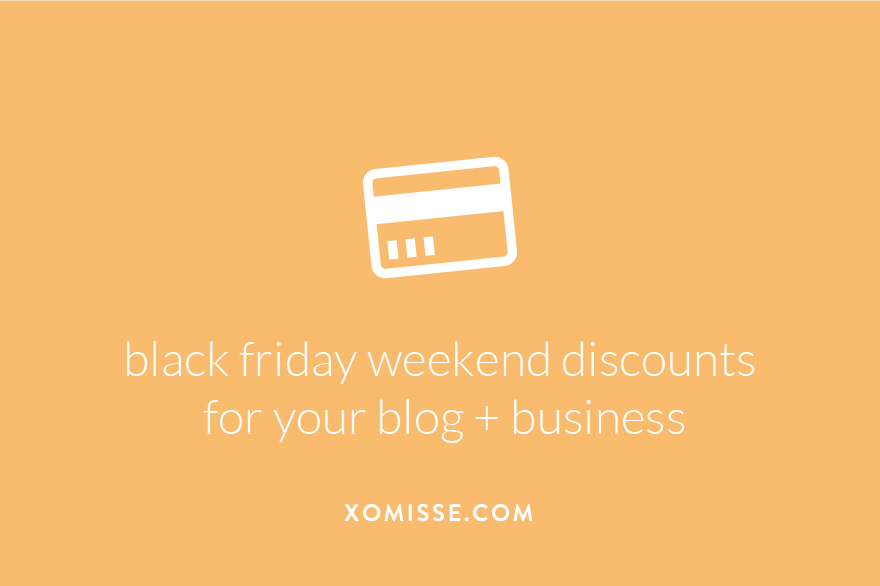 Black Friday, Small Business Saturday, Cyber Monday Deals 2016 - For Bloggers and Small Business Owners