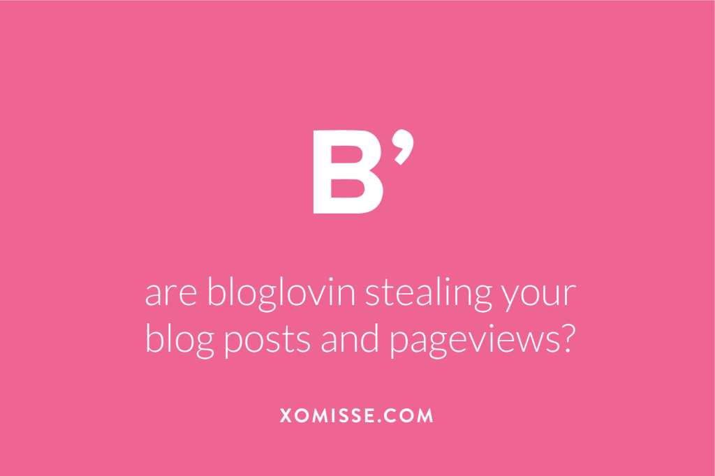 Bloglovin stealing page views and duplicating content