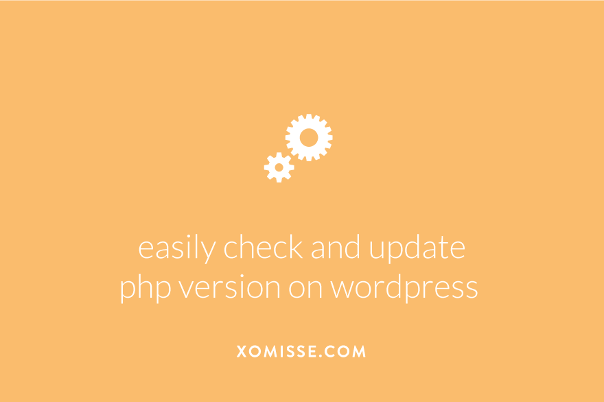 How to easily check and update the PHP version on WordPress site