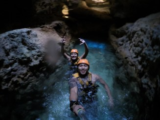 Stalactite River where we got our bumps & bruises