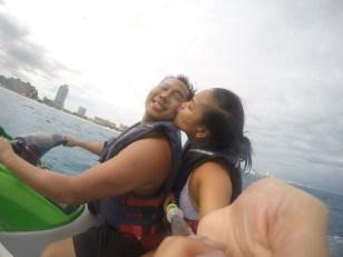 jet skiing the Caribbean Sea