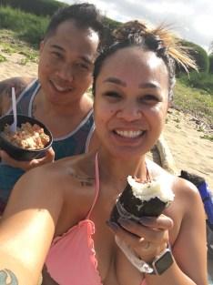 foodland's poke bowl and spam musubi