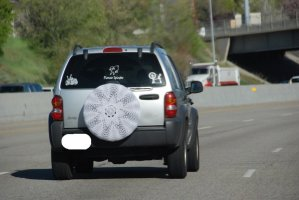 knit tire cover