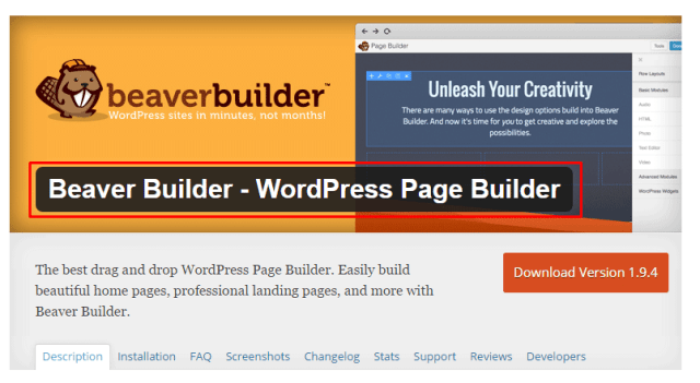 Beaver Builder – Best Drag and Drop WordPress Page Builder