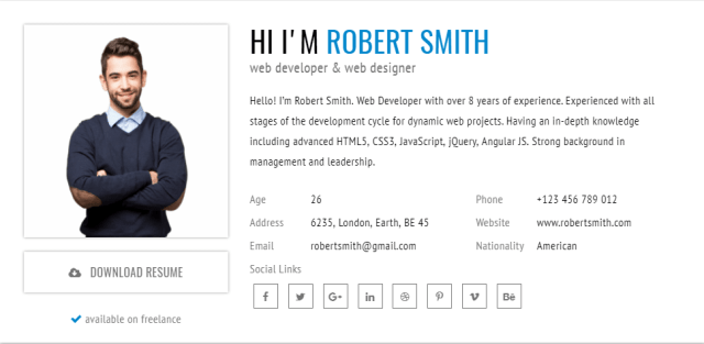 rstill is very amazing clean coded html resume template important to realize the template has a different look with great ui it used 12 different colors