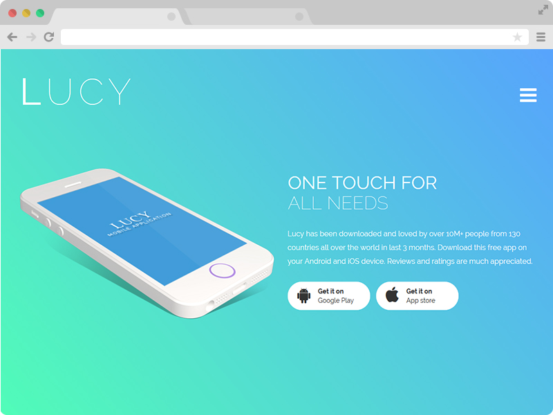 Mobile Landing Page Template Free