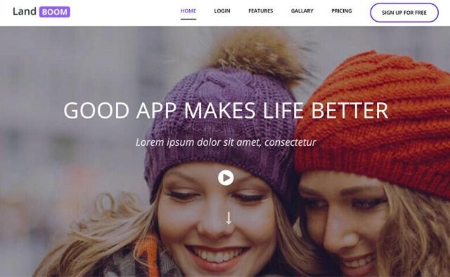 landboom Best App Landing Page Template