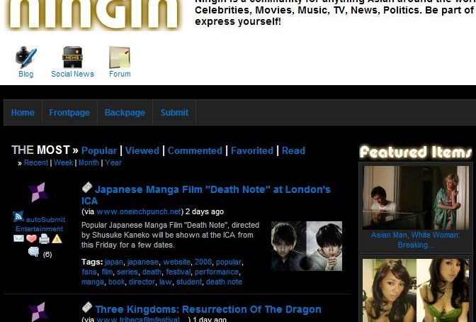 Ningin – The Asian Social Bookmarking Community