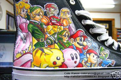 Custom Nintendo Converse Shoes