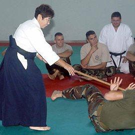 Italian soldiers fear Samurai Granny