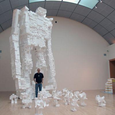 22 foot styrofoam robot