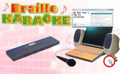 Braille karaoke system for blind