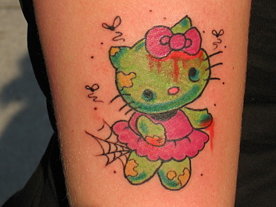 Hello Kitty Tattoo: Zombie
