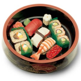 Is that sushi made out of chocolate?